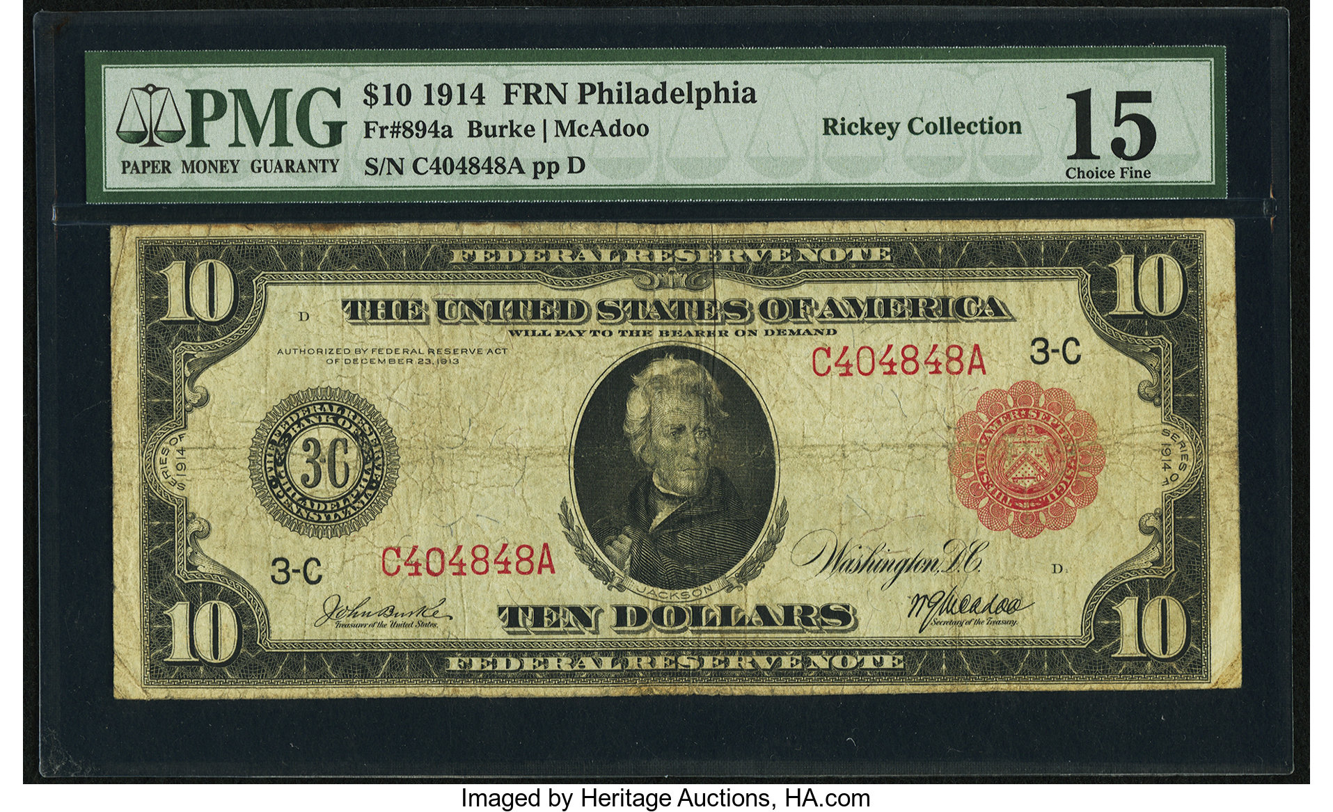 sample image for Fr.894A $10 Philly RS
