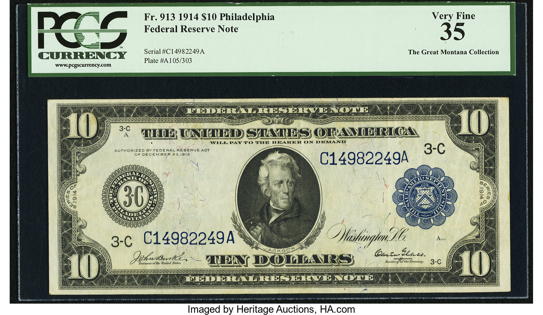 sample image for Fr.913 $10 Philly