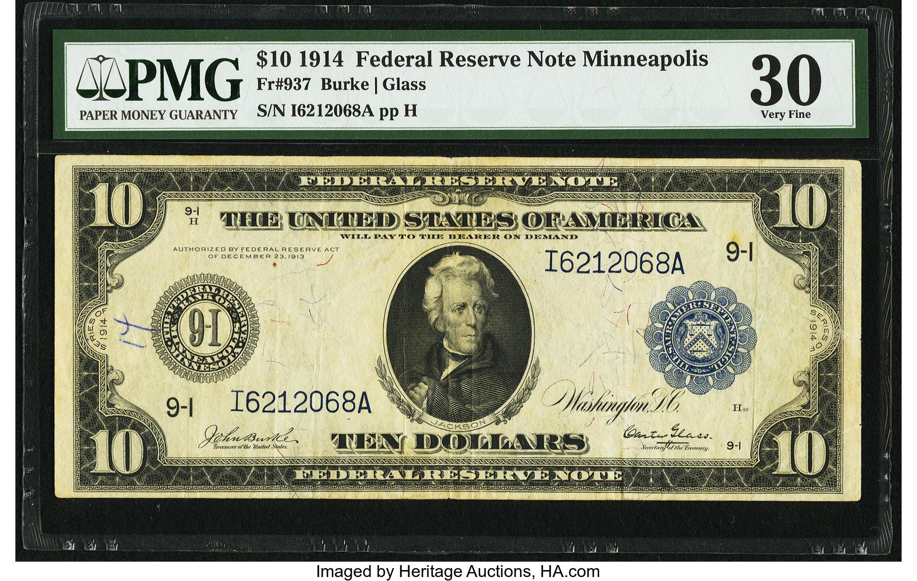 sample image for Fr.937 $10 Minneapolis