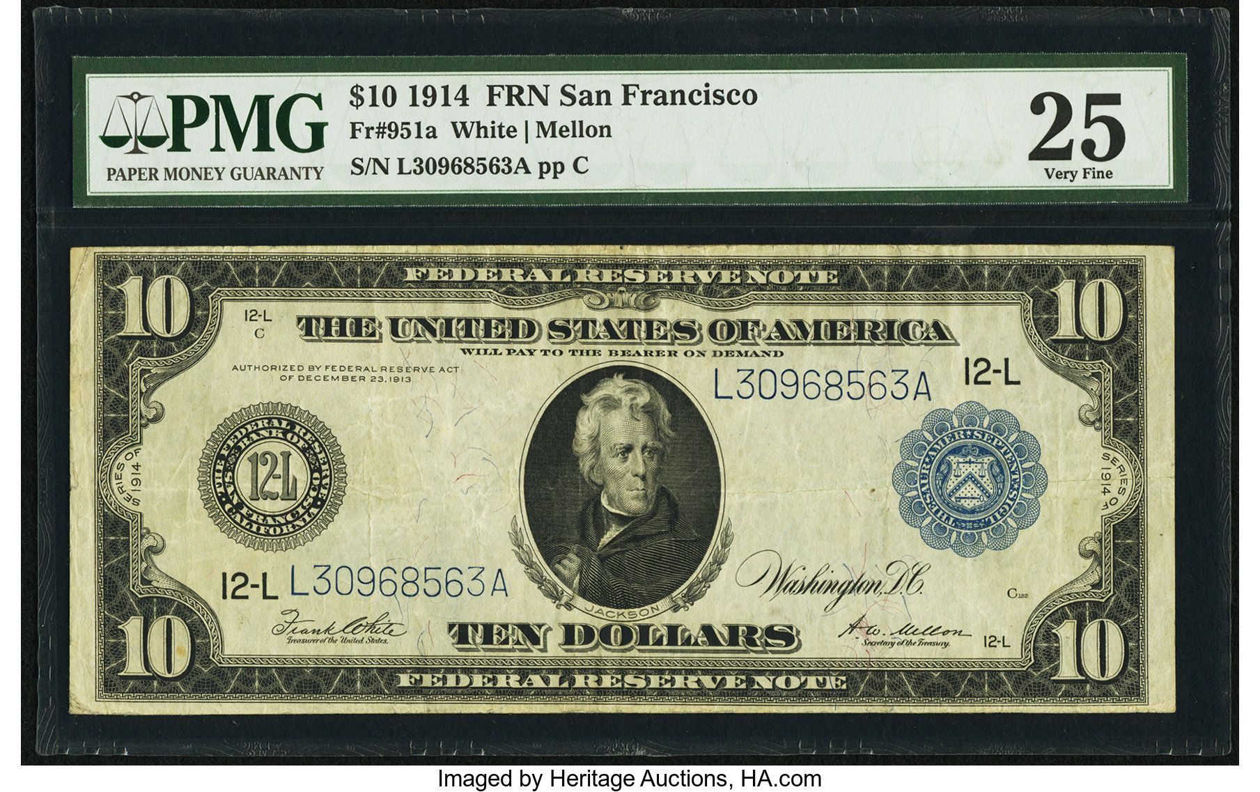 sample image for Fr.951A $10 SF