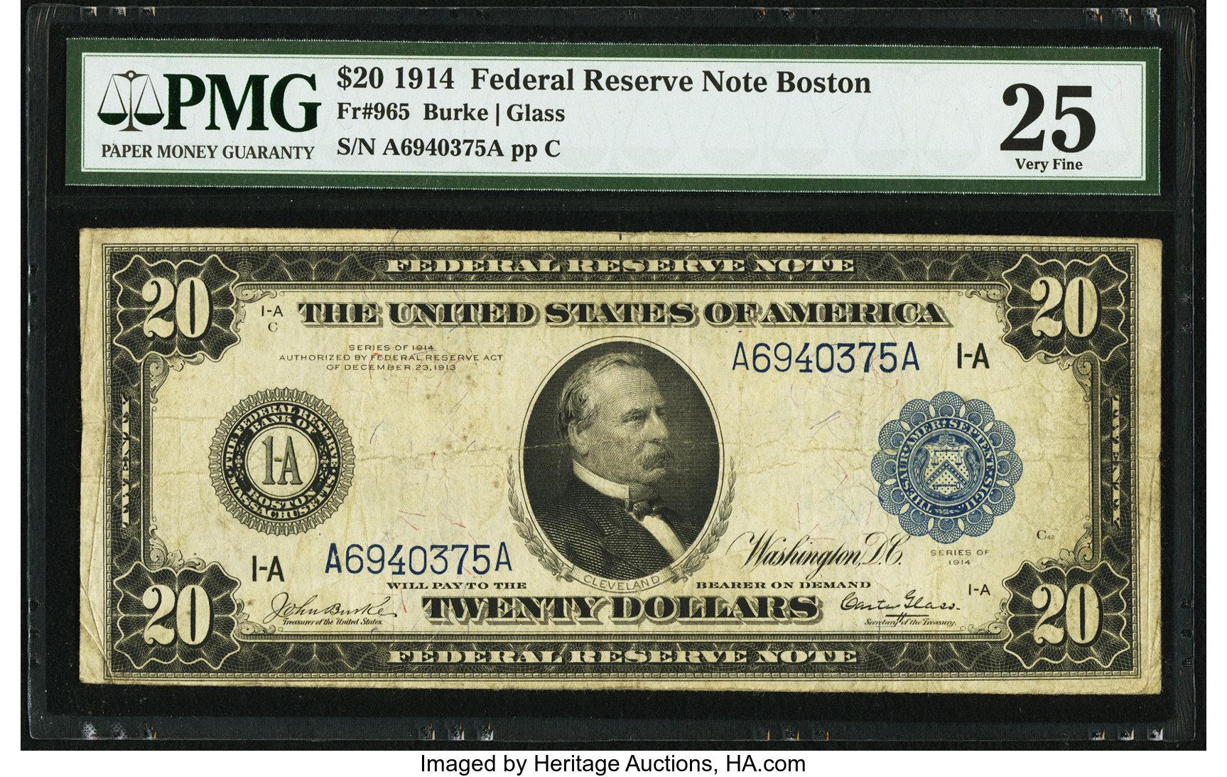 sample image for Fr.965 $20 Boston