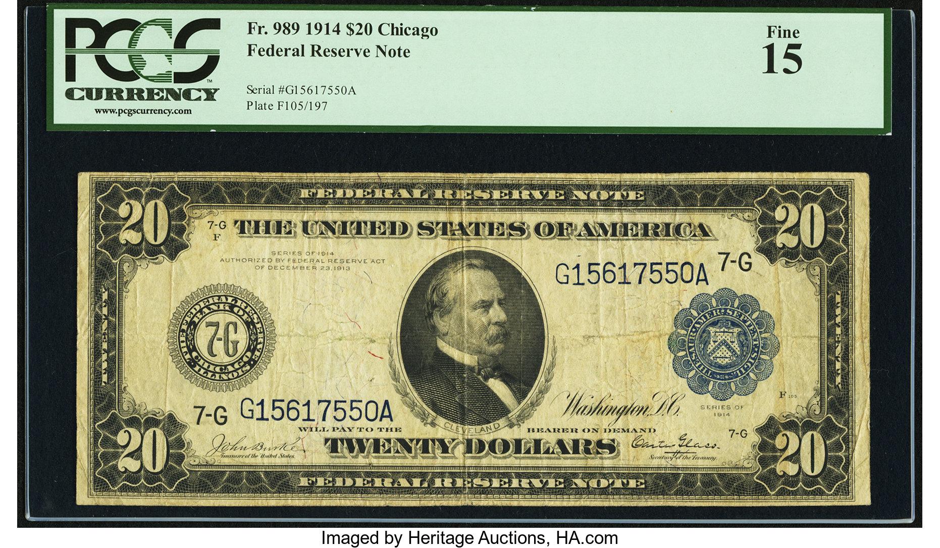 sample image for Fr.989 $20 Chicago