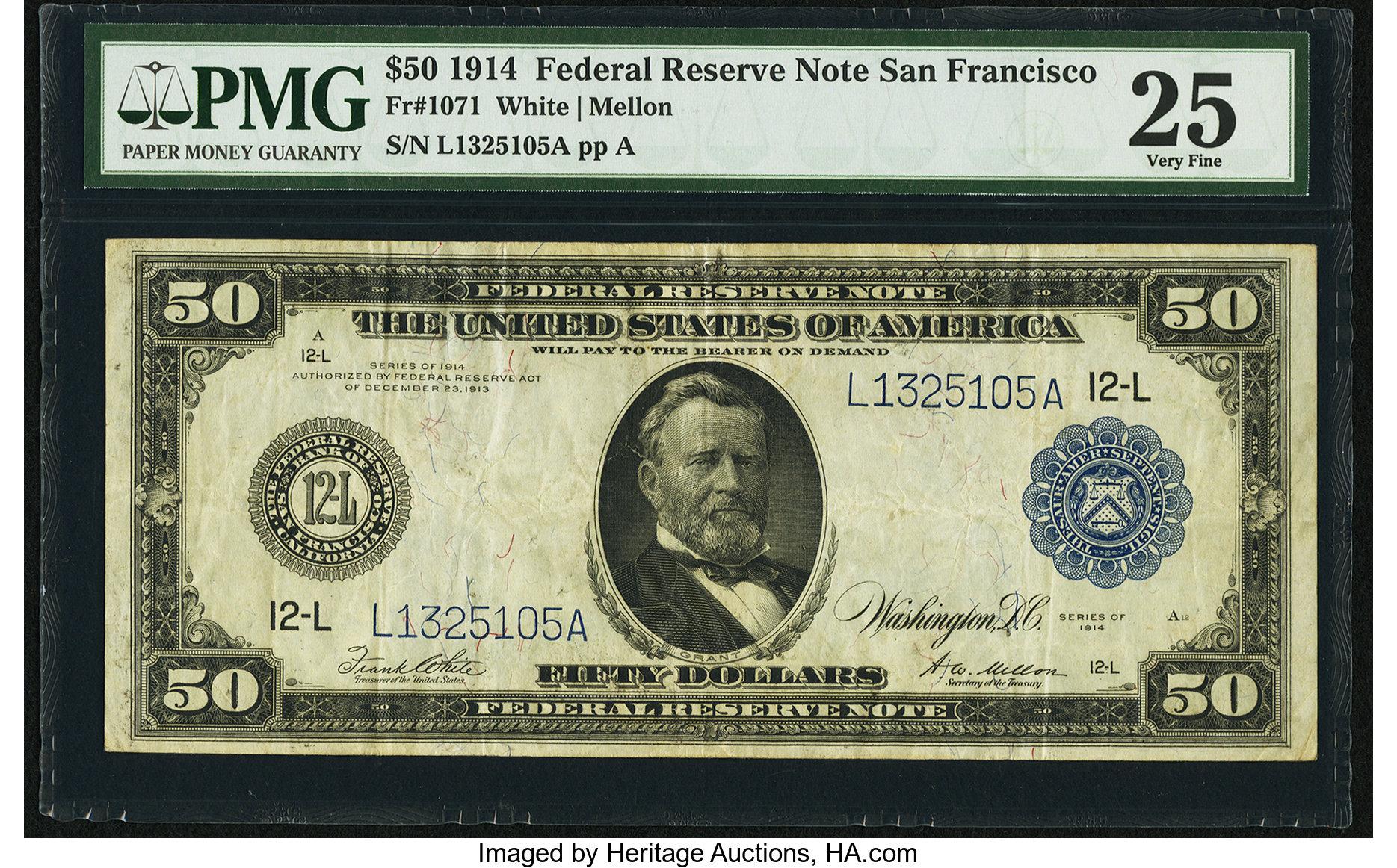sample image for Fr.1071 $50 SF