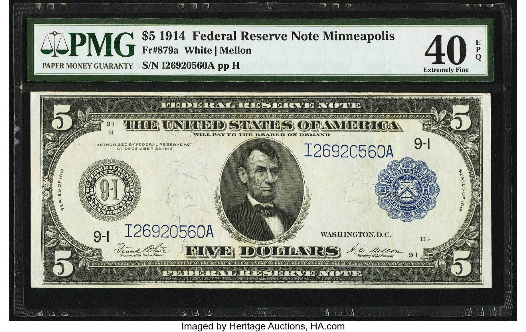 sample image for Fr.879A $5 Minneapolis