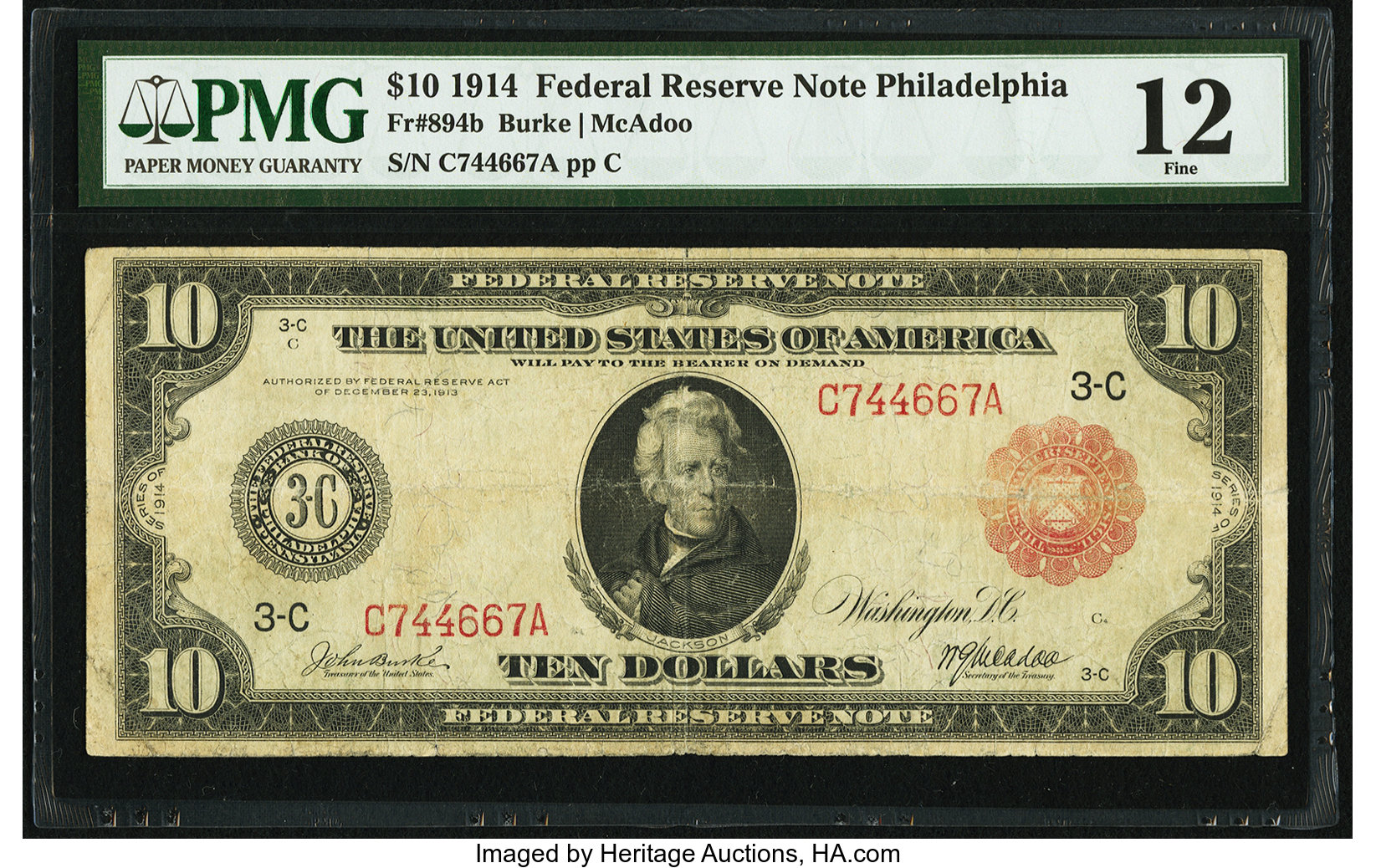 sample image for Fr.894B $10 Philly RS