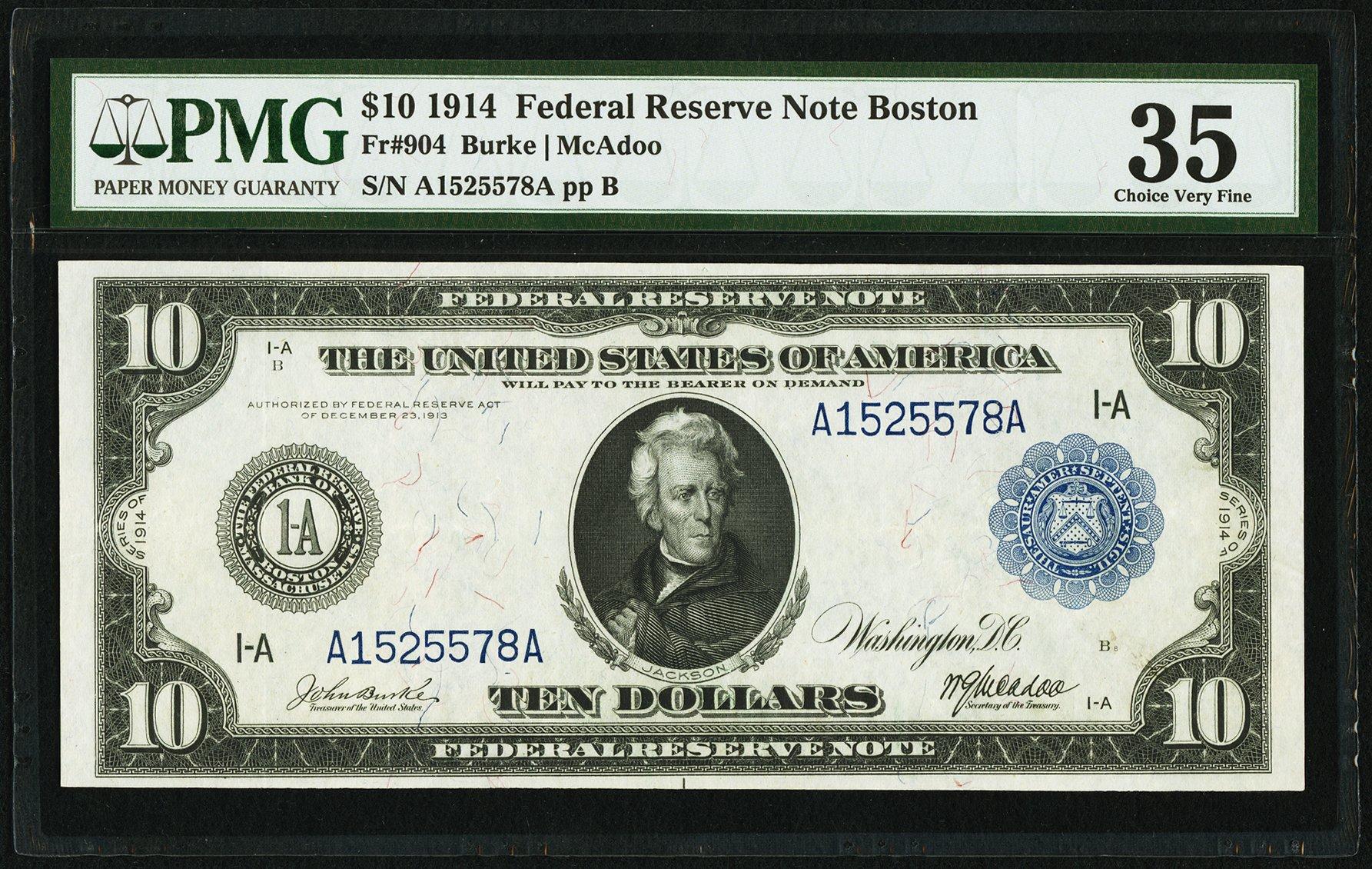 sample image for Fr.904 $10 Boston