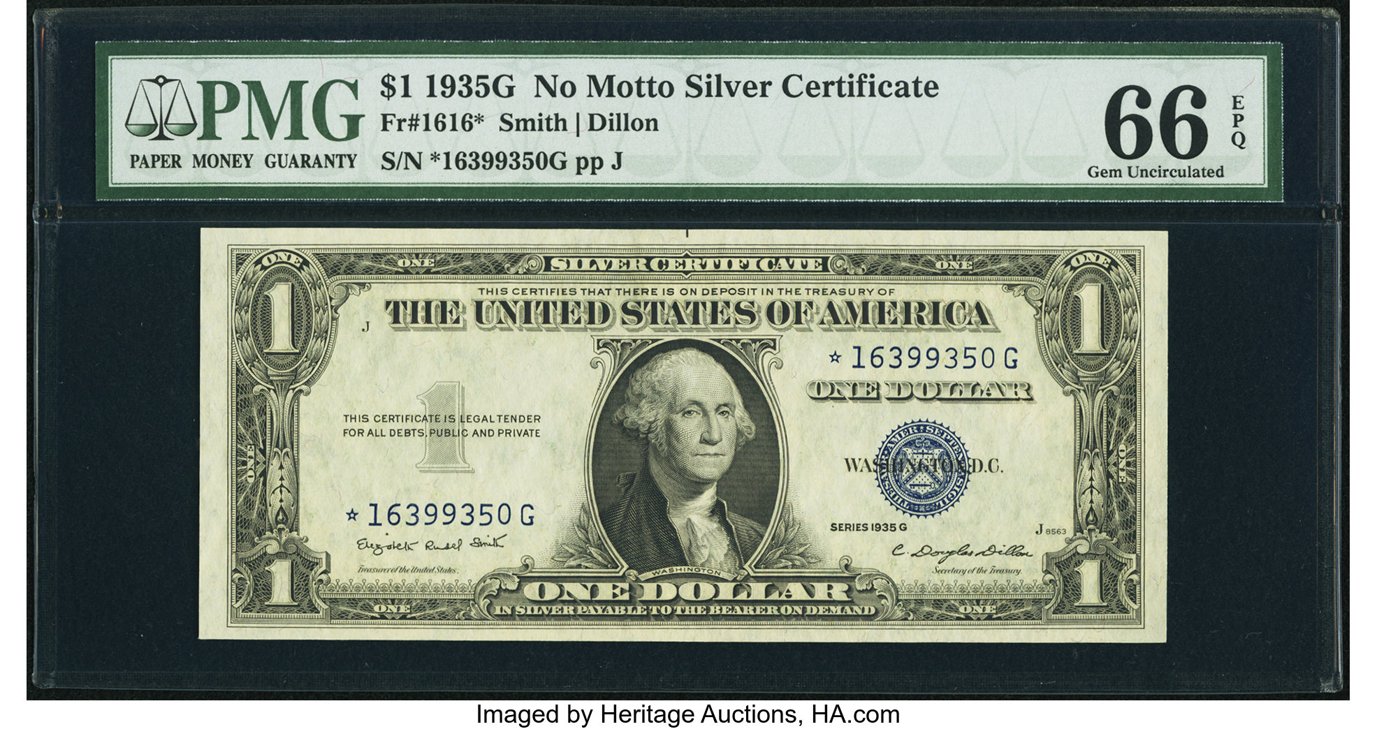 sample image for 1935G $1  Replacement (Fr.# 1616*)