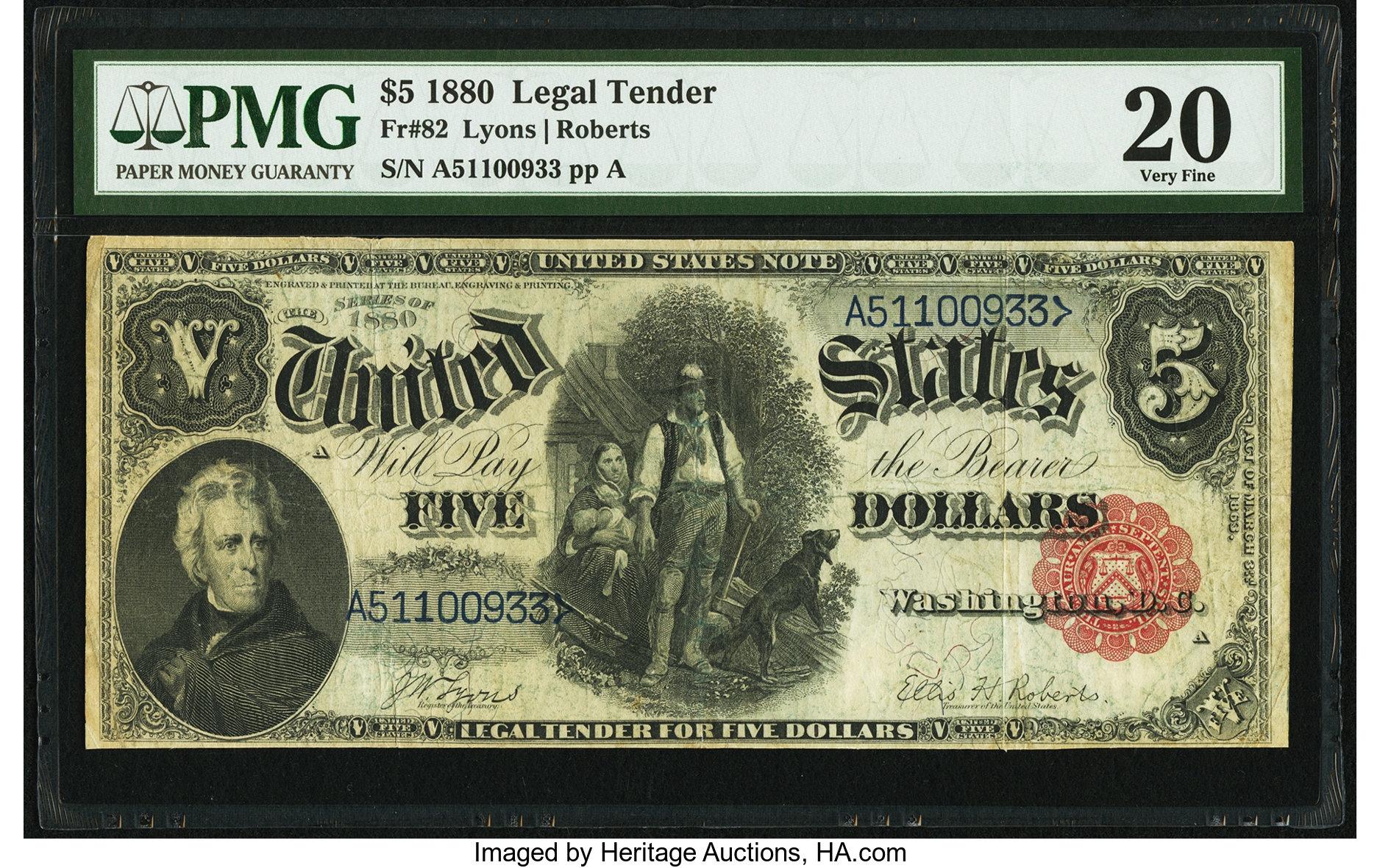 sample image for 1880 $5  (Fr.# 82)