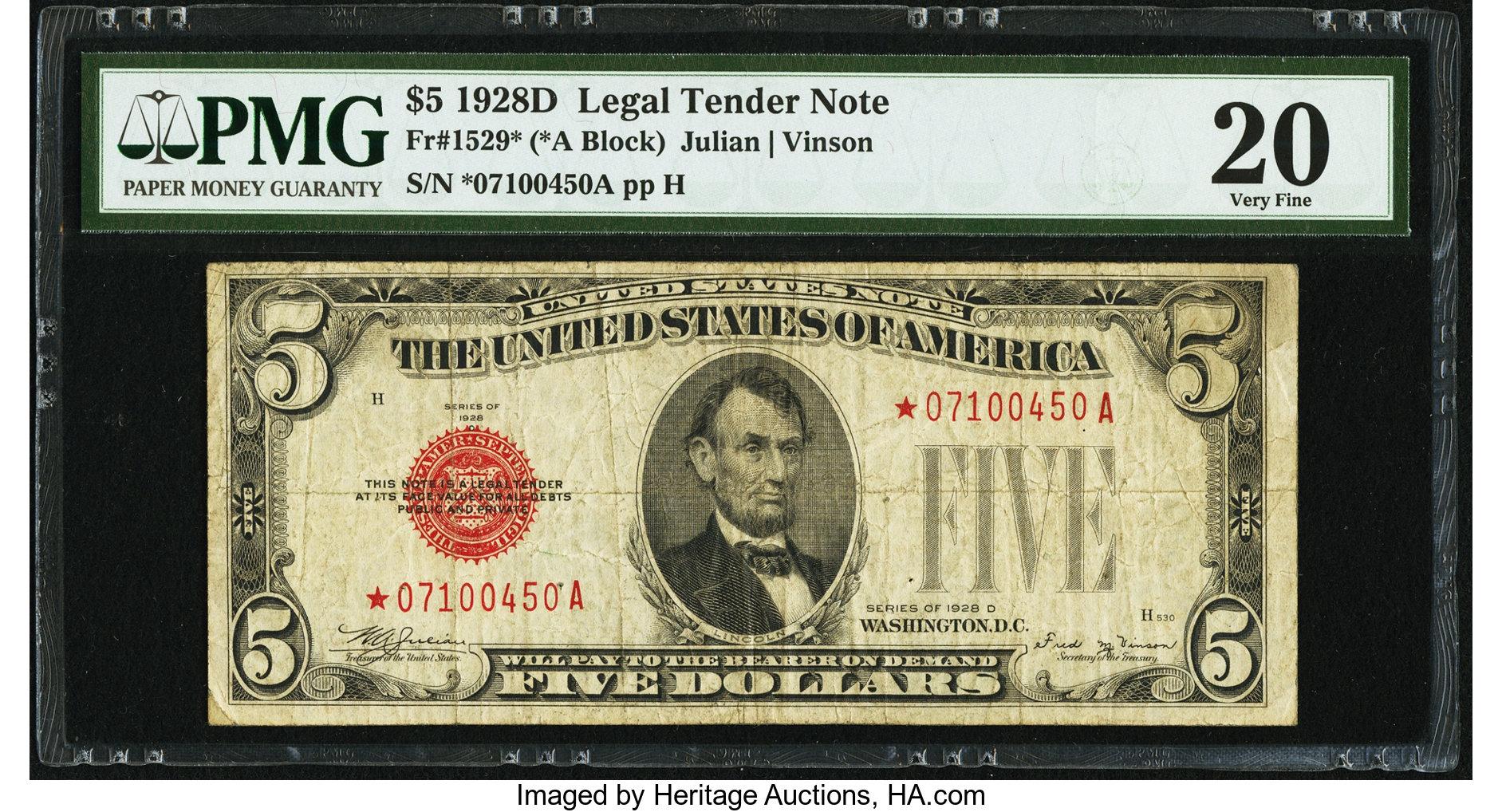 sample image for 1928D $5  (Fr.# 1529*)
