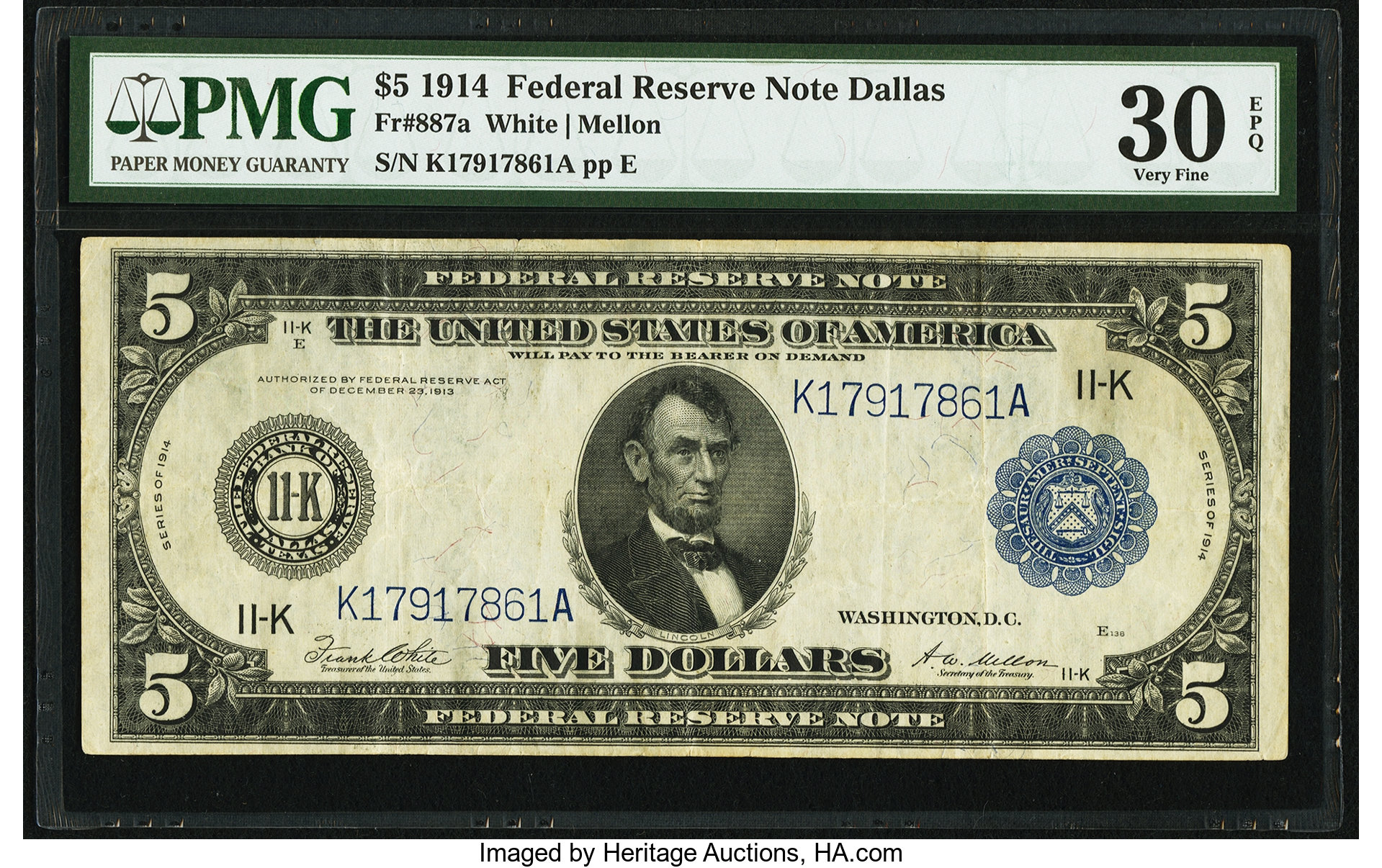 sample image for Fr.887A $5 Dallas