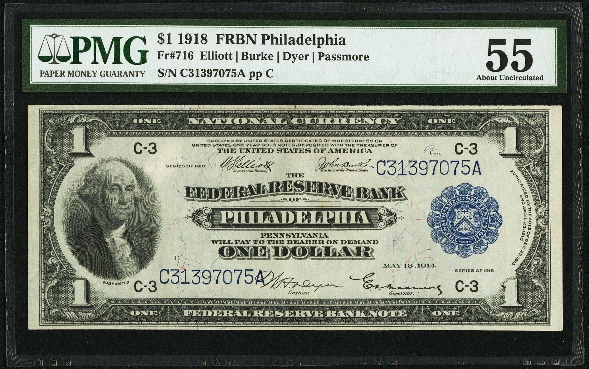 sample image for 1918 $1  Philadelphia (Fr.# 716)