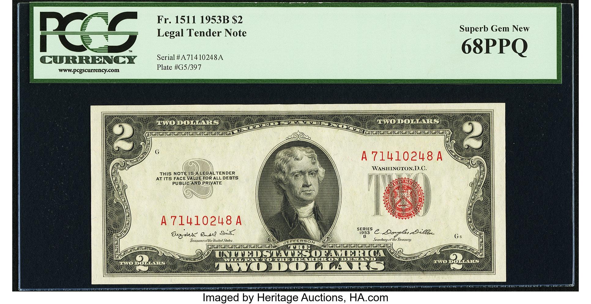 sample image for 1953B $2  (Fr.# 1511)