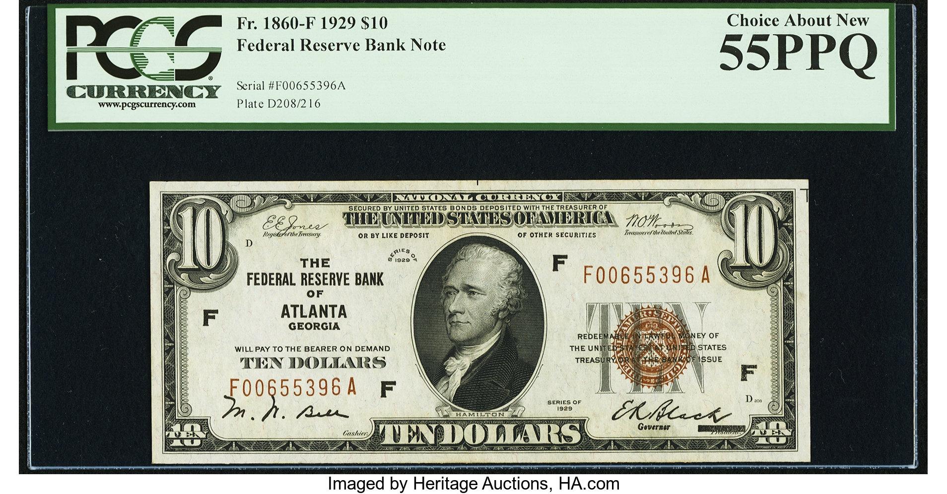 sample image for 1929 $10  Atlanta (Fr.# 1860F)