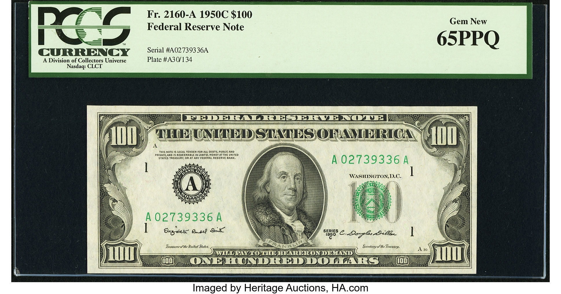 sample image for 1950C $100  Boston (Fr.# 2160A)