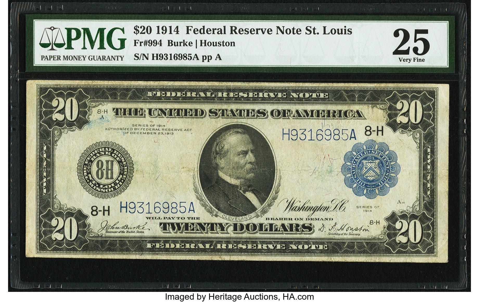sample image for Fr.994 $20 St.L
