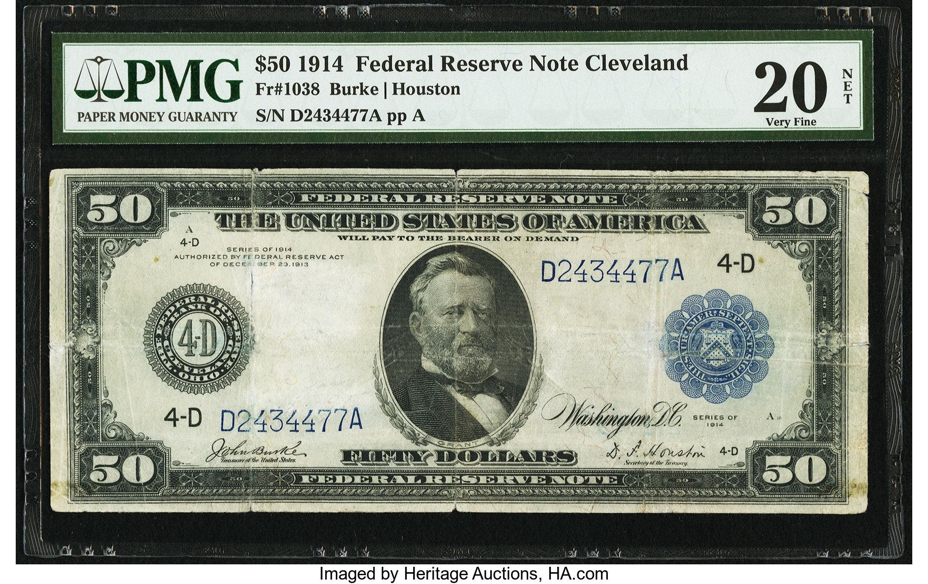 sample image for Fr.1038 $50 Cleveland