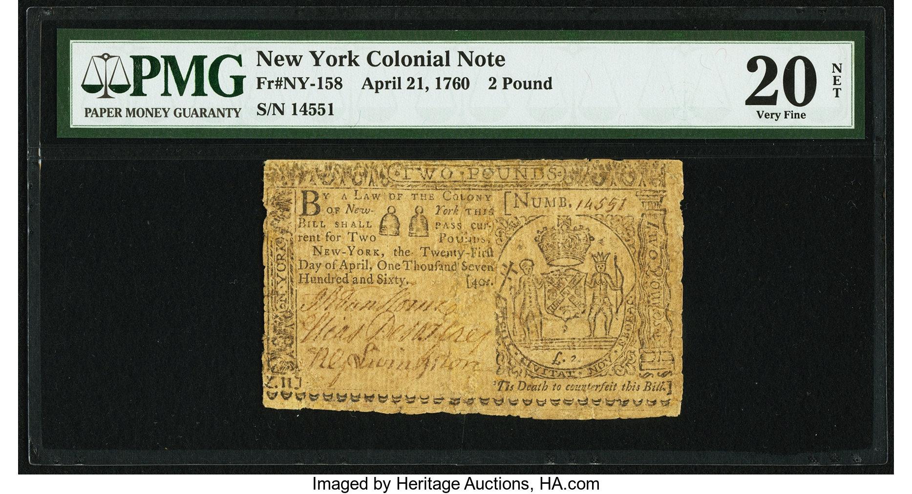 sample image for 1760 21-Apr £2 (Fr.# NY158)