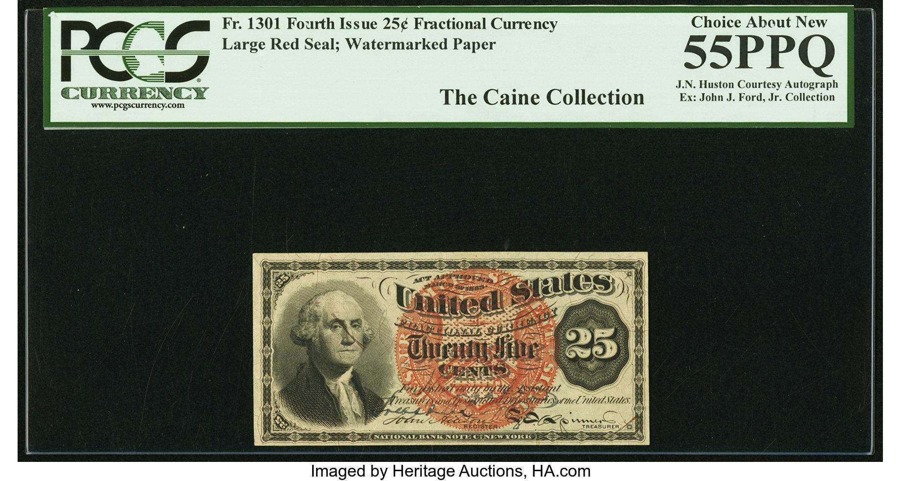 sample image for Fr.1301 25c Wmk Paper