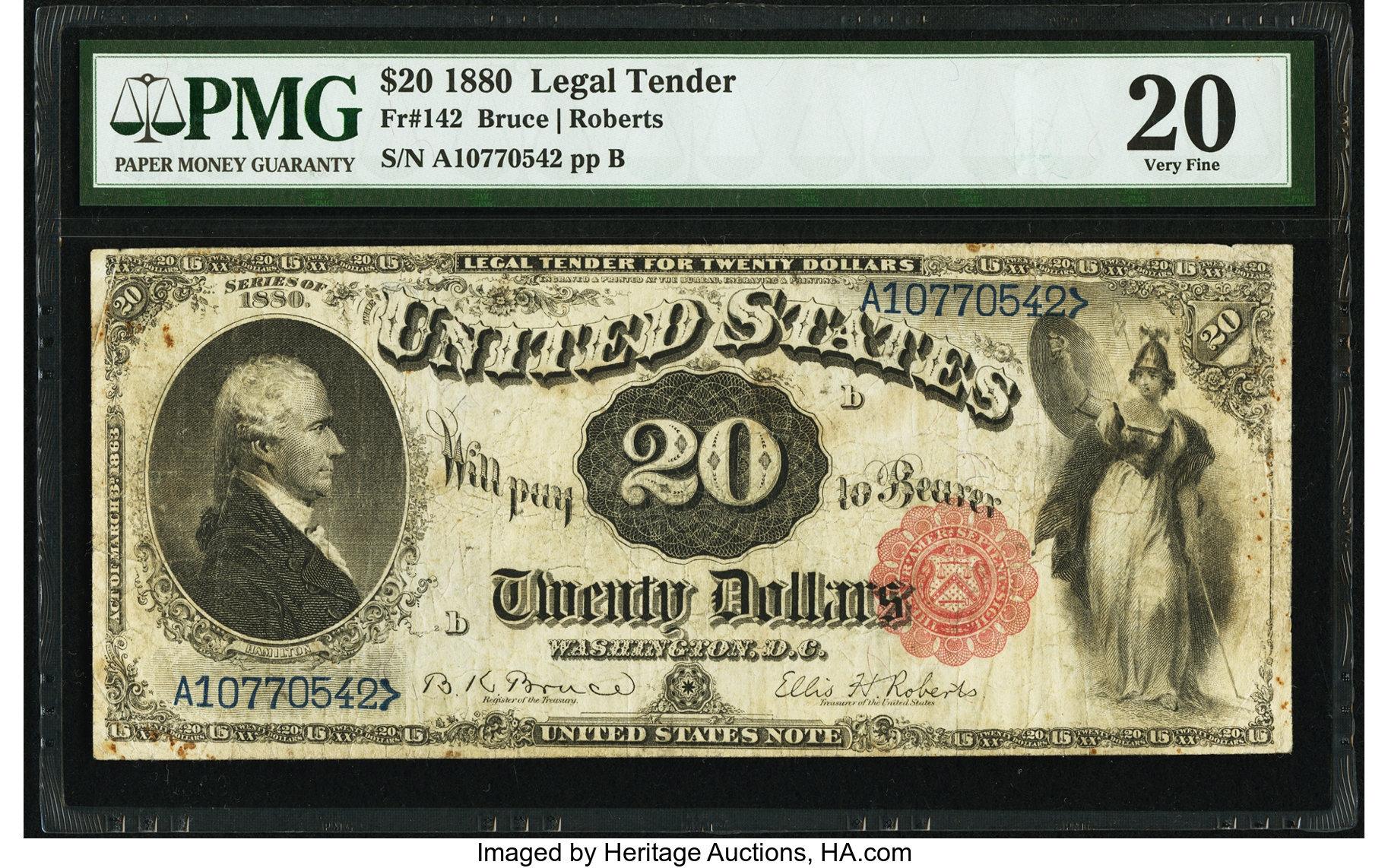 sample image for 1880 $20  (Fr.# 142)