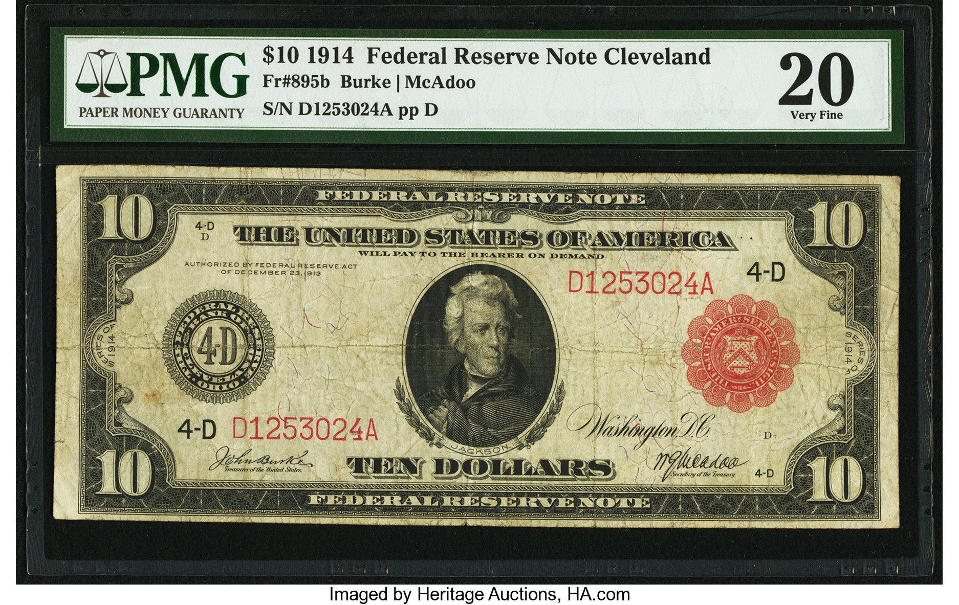 sample image for Fr.895B $10 Cleveland RS