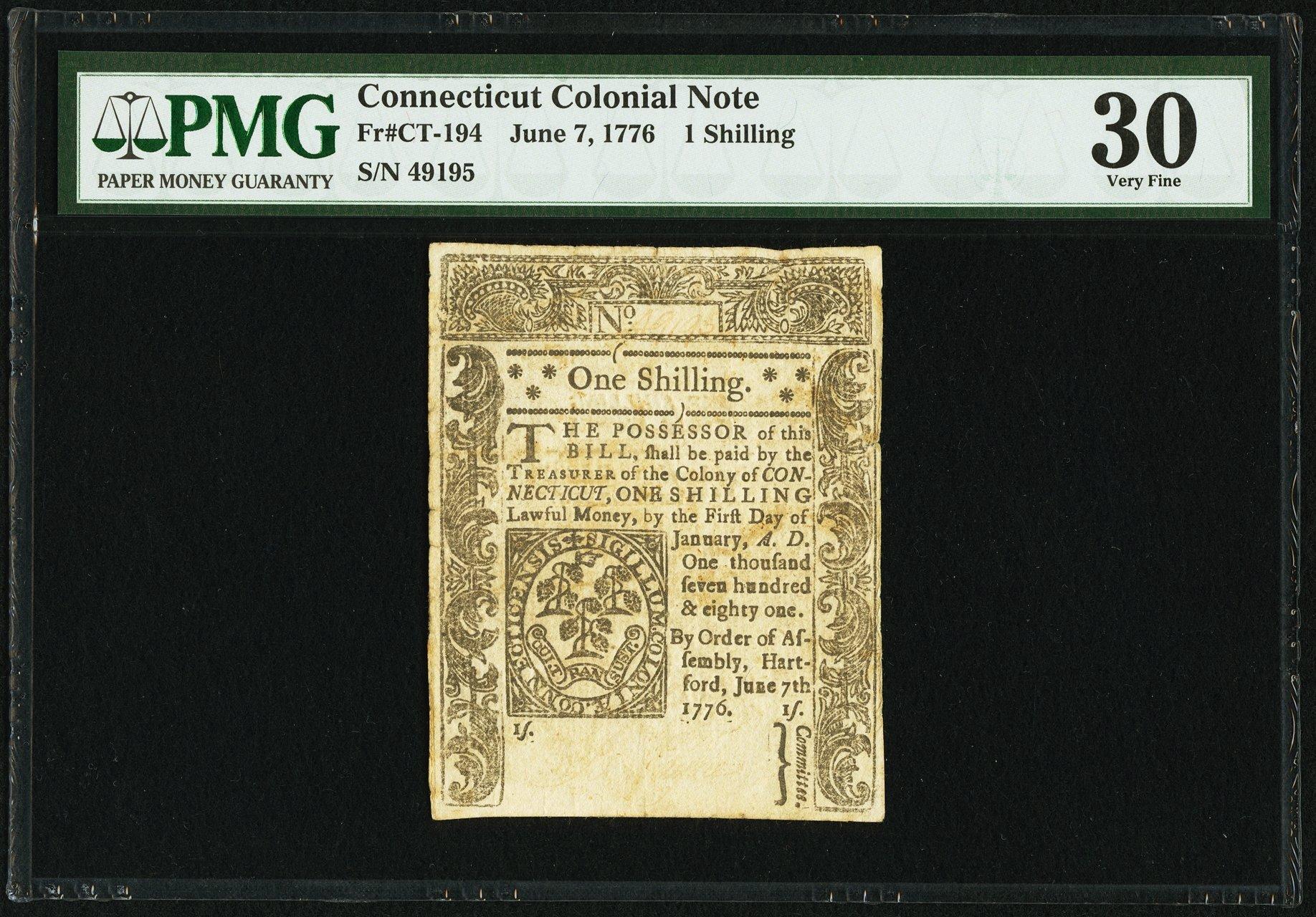 sample image for 1776 1-Jul 1s (Fr.# CT194)