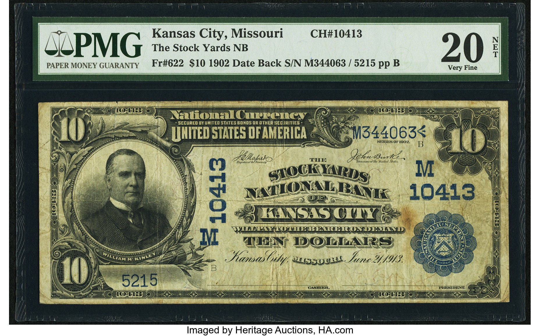 sample image for 1902 3rd Charter Period $10  Date Back 2nd Issue (Fr.# 622)