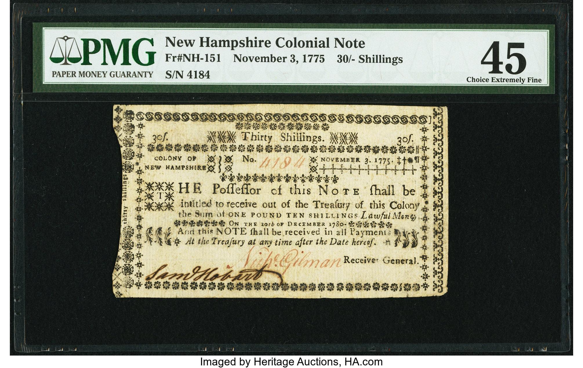 sample image for 1775 3-Nov 30s (Fr.# NH151)