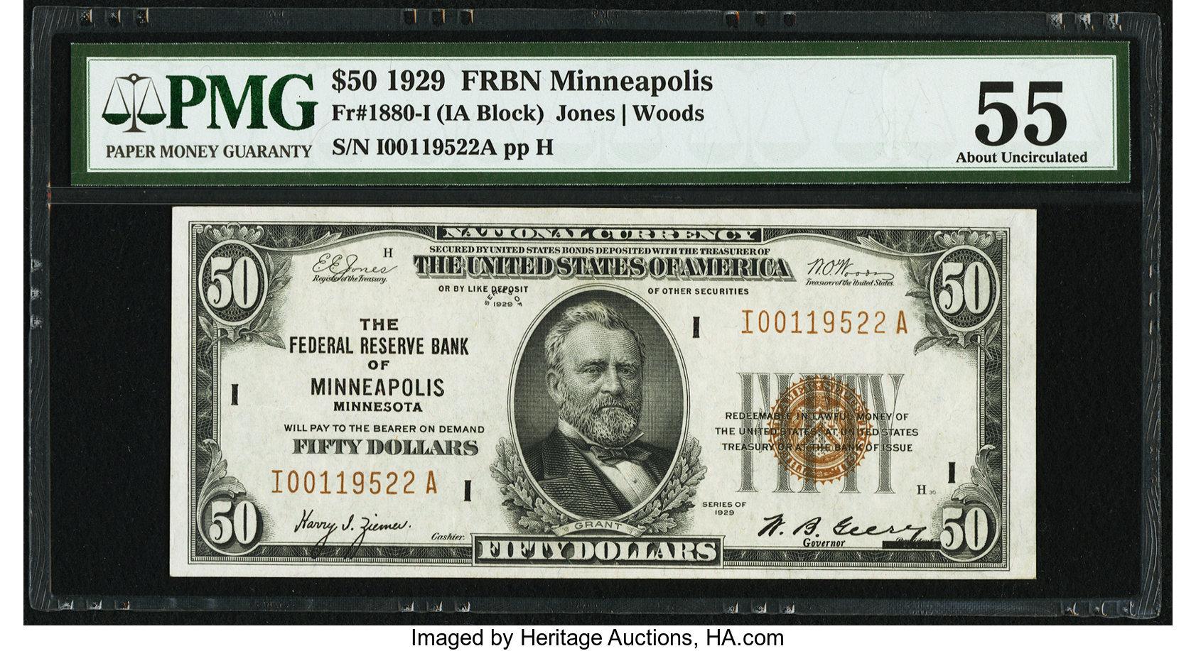 sample image for 1929 $50  Minneapolis (Fr.# 1880I)