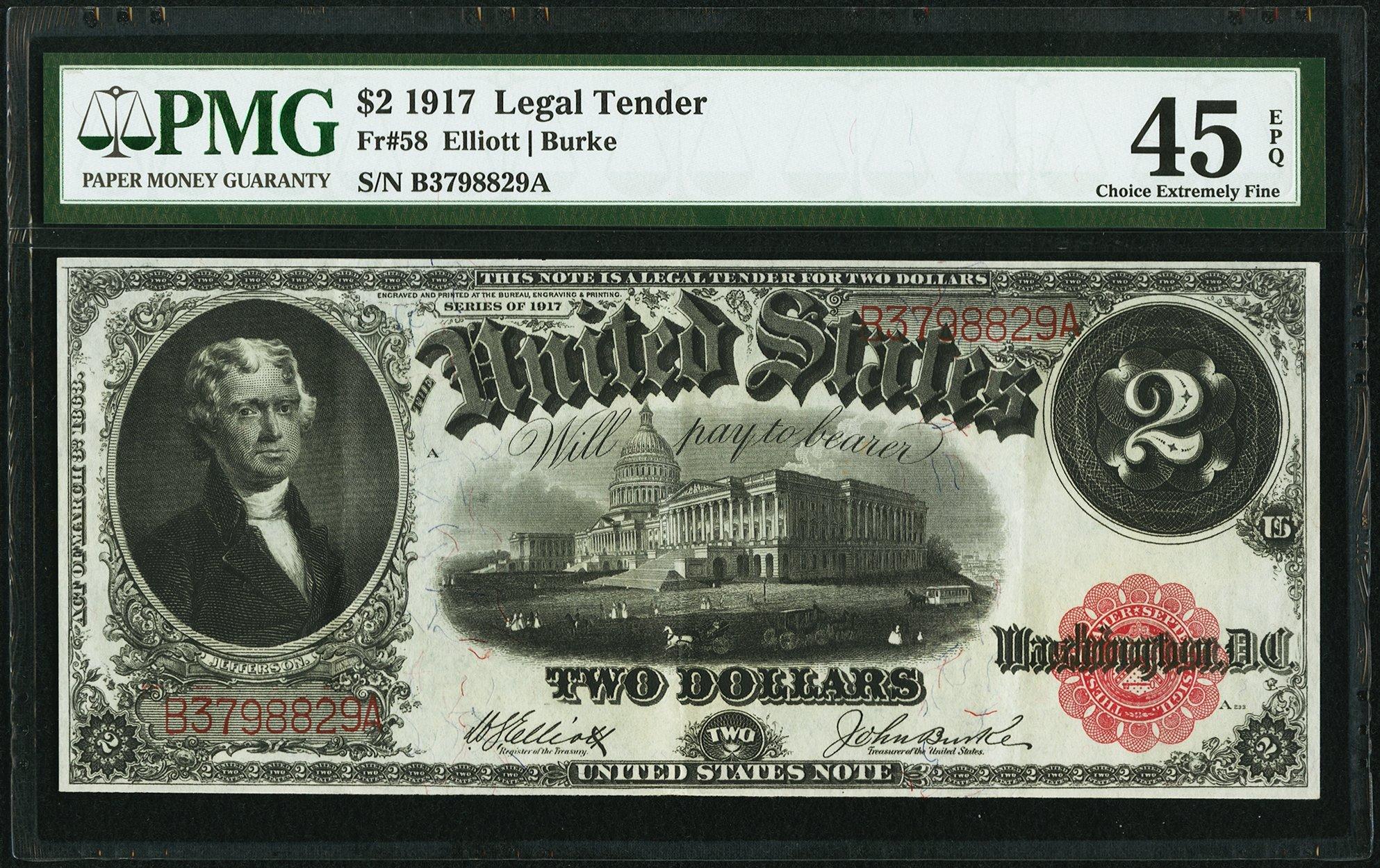 sample image for 1917 $2  (Fr.# 58)