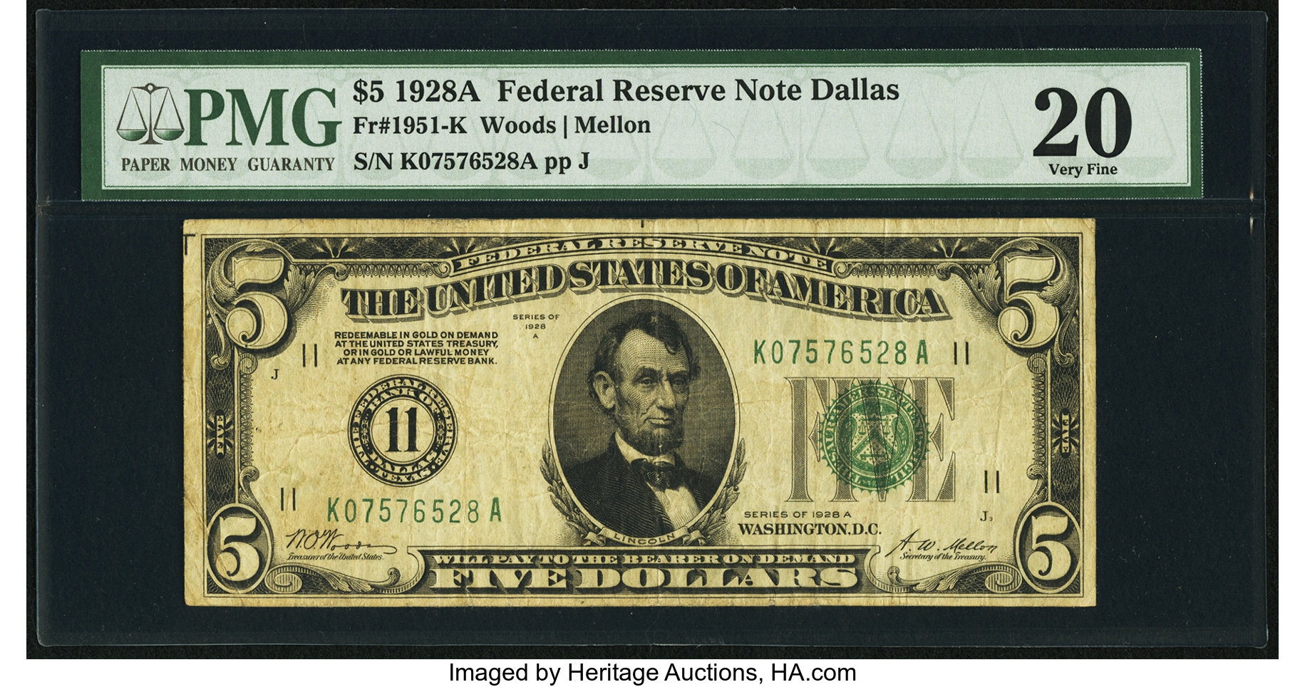 sample image for 1928A $5  Dallas (Fr.# 1951K)