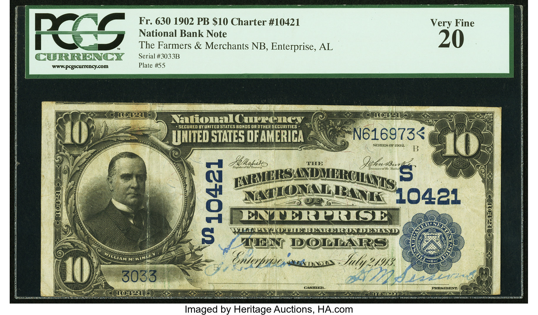 sample image for 1902 3rd Charter Period $10  Plain Back 3rd Issue (Fr.# 630)