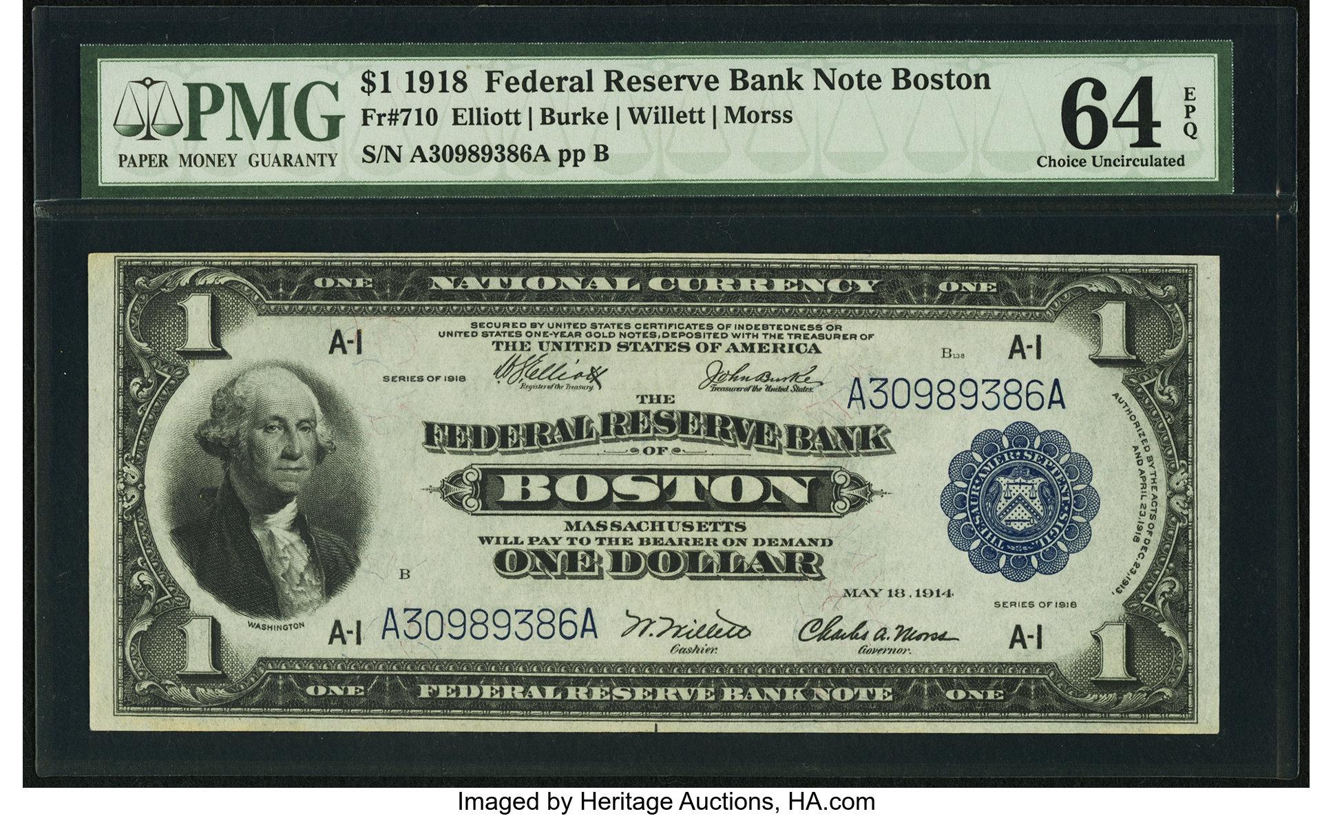 sample image for 1918 $1  Boston (Fr.# 710)