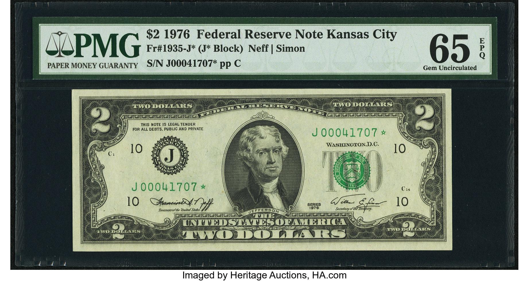 sample image for 1976 $2  Kansas City (Fr.# 1935J*)