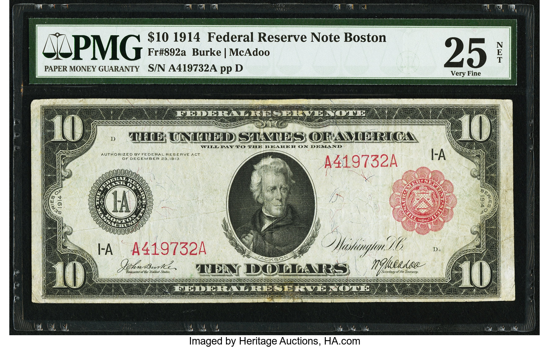 sample image for Fr.892A $10 Boston RS