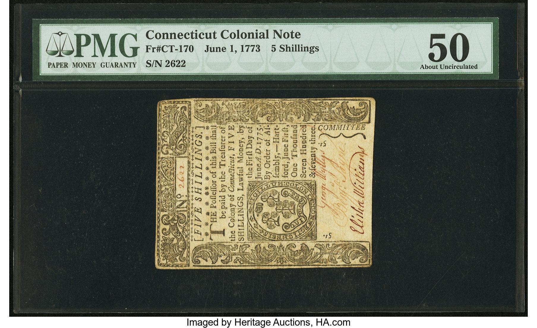 sample image for 1773 1-Jun 5s (Fr.# CT170)