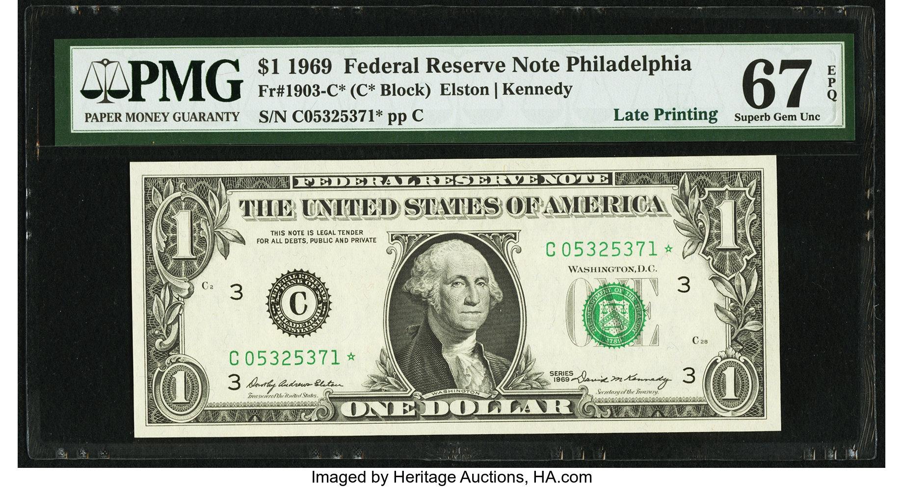sample image for 1969 $1  Philadelphia (Fr.# 1903C*)