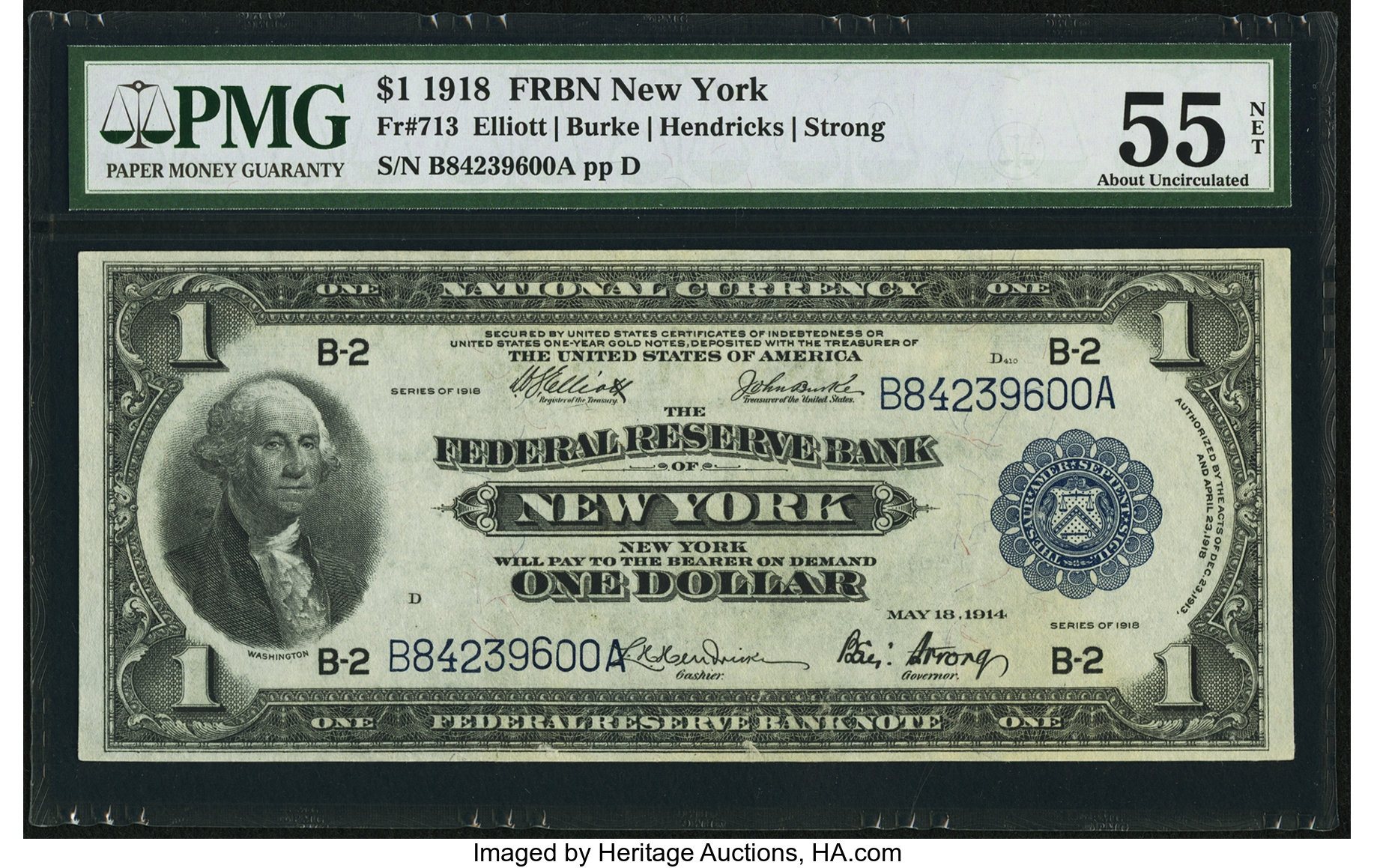 sample image for 1918 $1  New York (Fr.# 713)