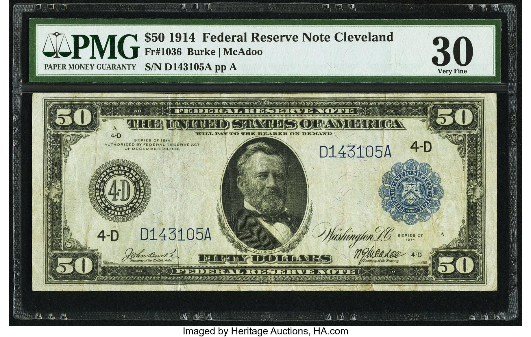 sample image for Fr.1036 $50 Cleveland