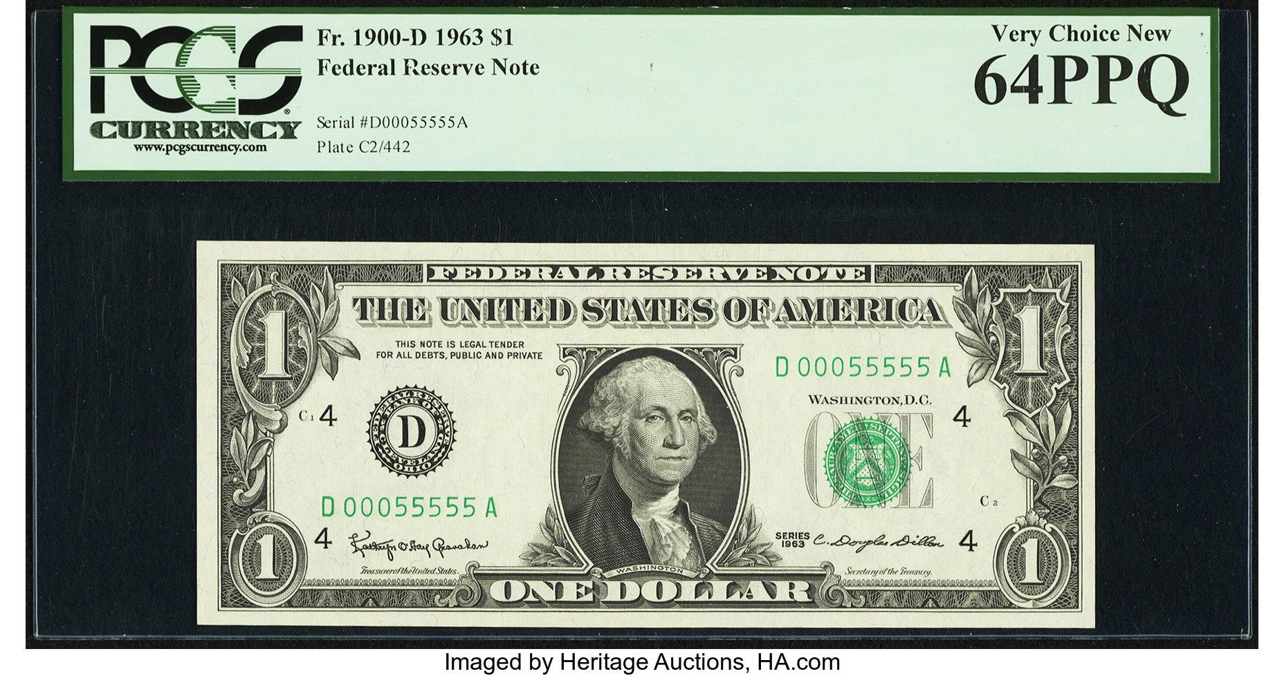 sample image for 1963 $1  Cleveland (Fr.# 1900D)