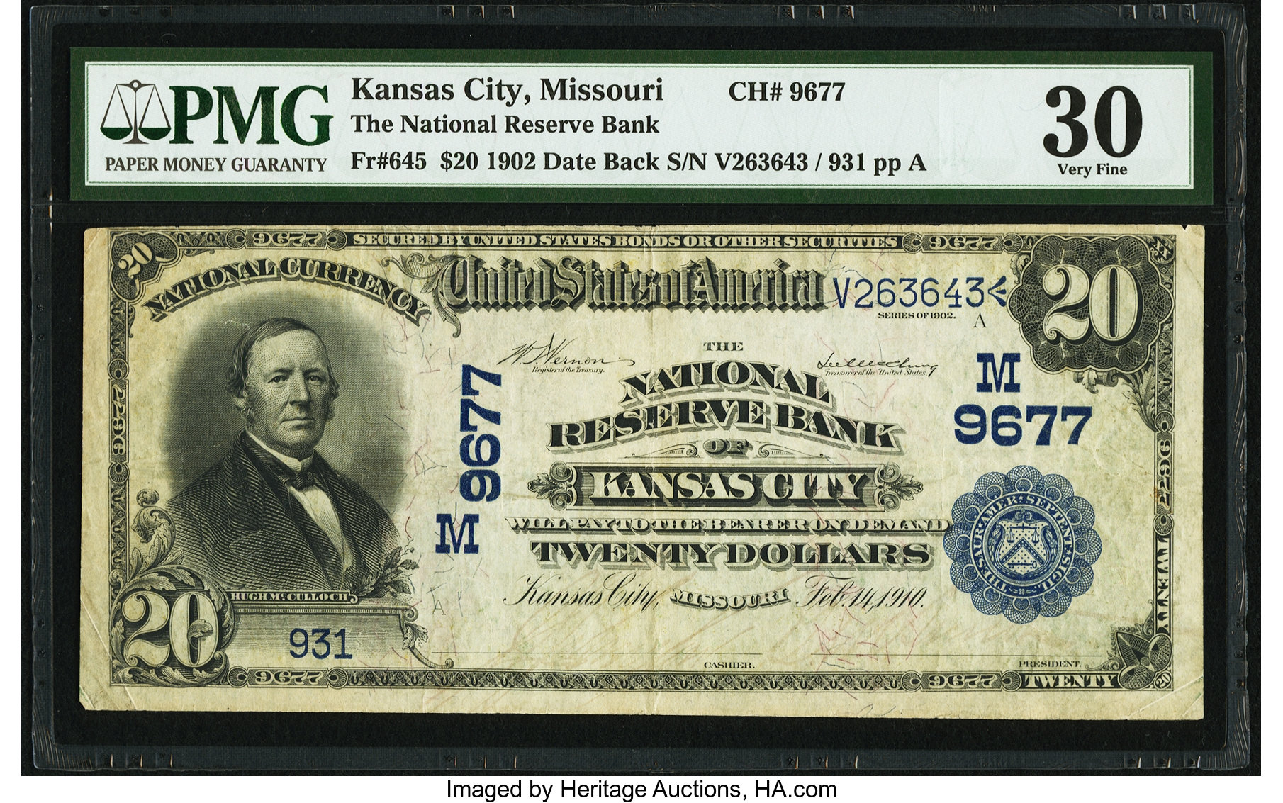 sample image for 1902 3rd Charter Period $20  Date Back 2nd Issue (Fr.# 645)