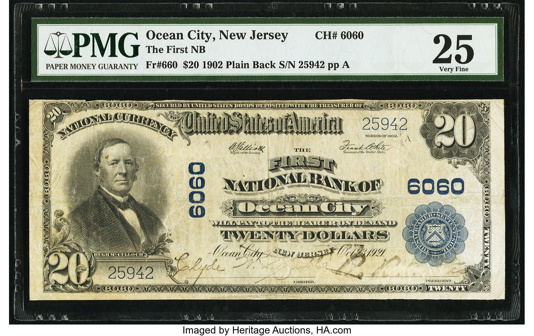 sample image for 1902 3rd Charter Period $20  Plain Back 3rd Issue (Fr.# 660)