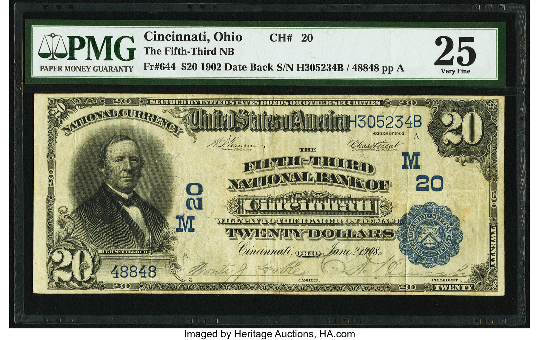 sample image for 1902 3rd Charter Period $20  Date Back 2nd Issue (Fr.# 644)