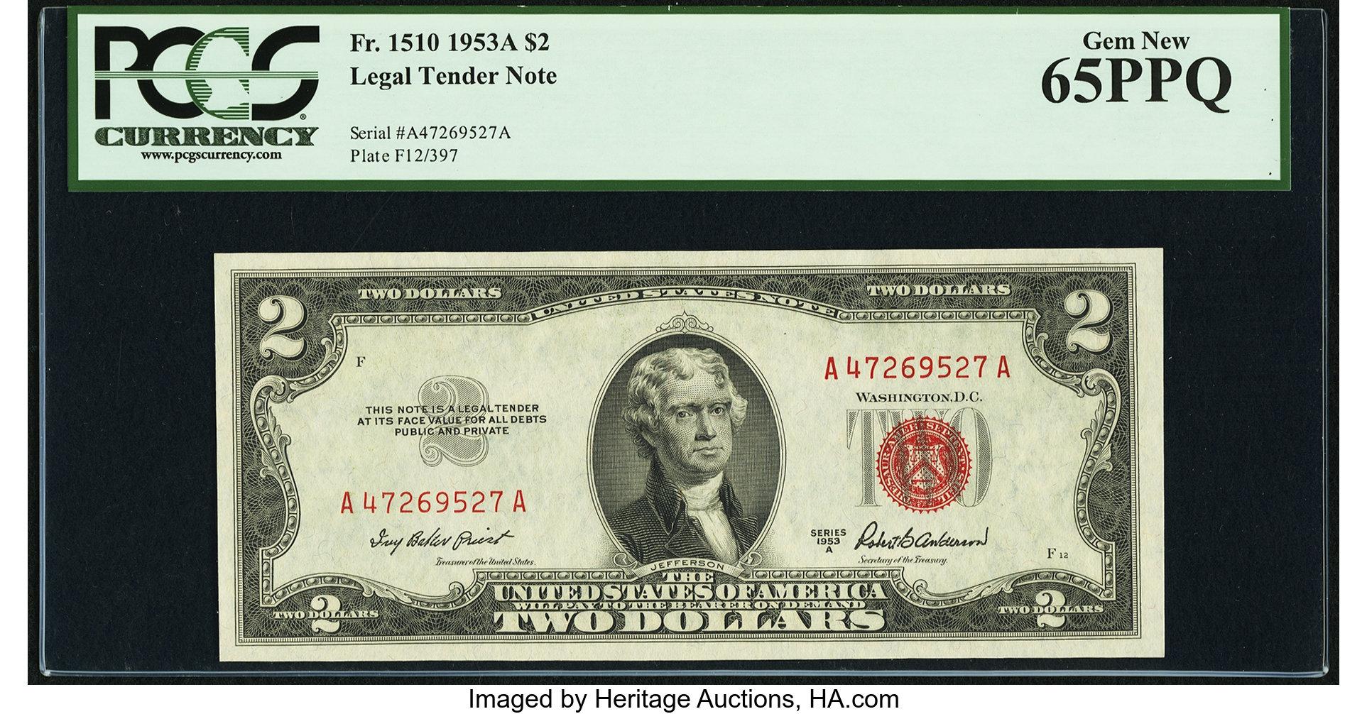 sample image for 1953A $2  (Fr.# 1510)