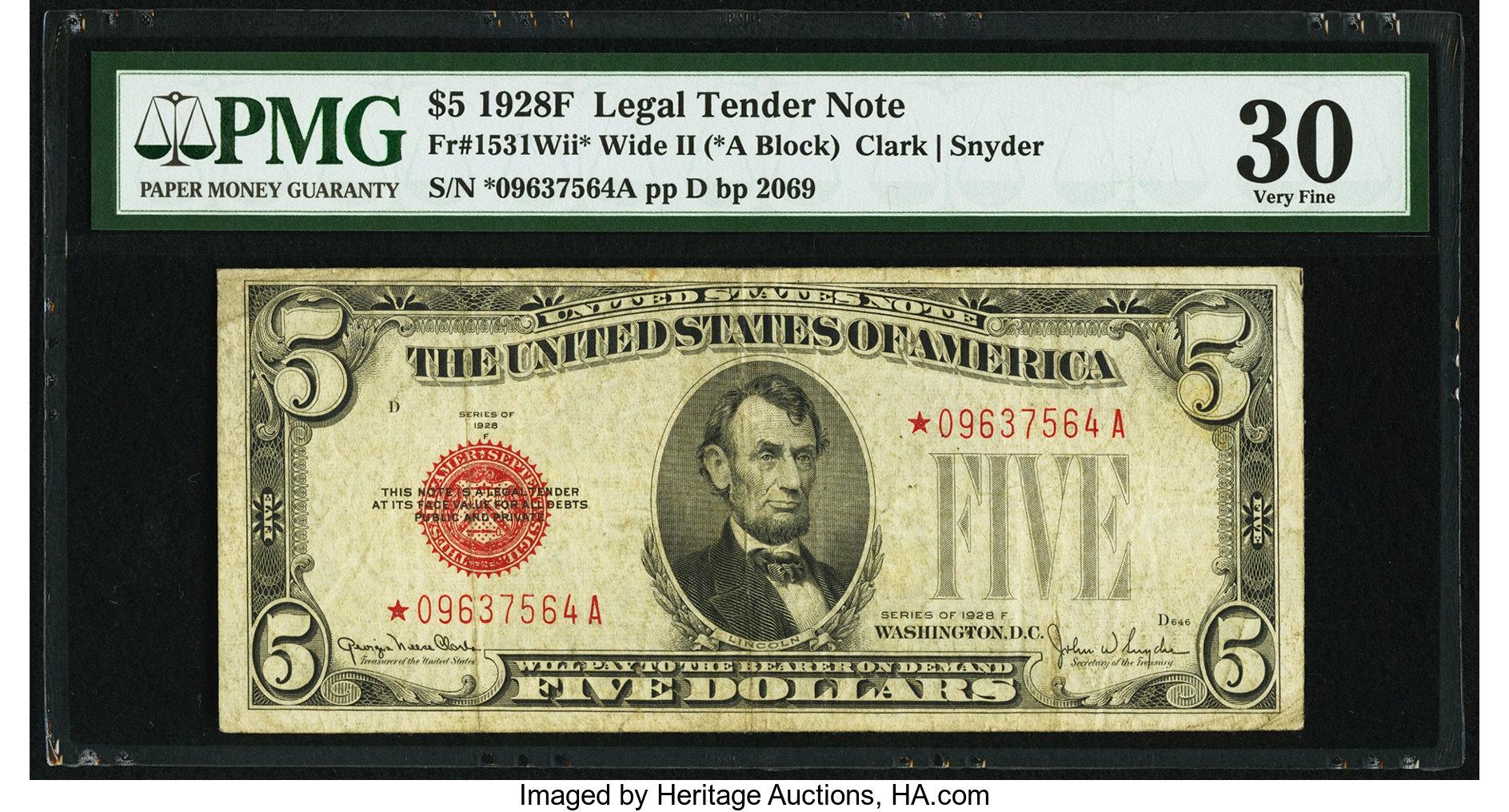 sample image for 1928F $5  (Fr.# 1531*)