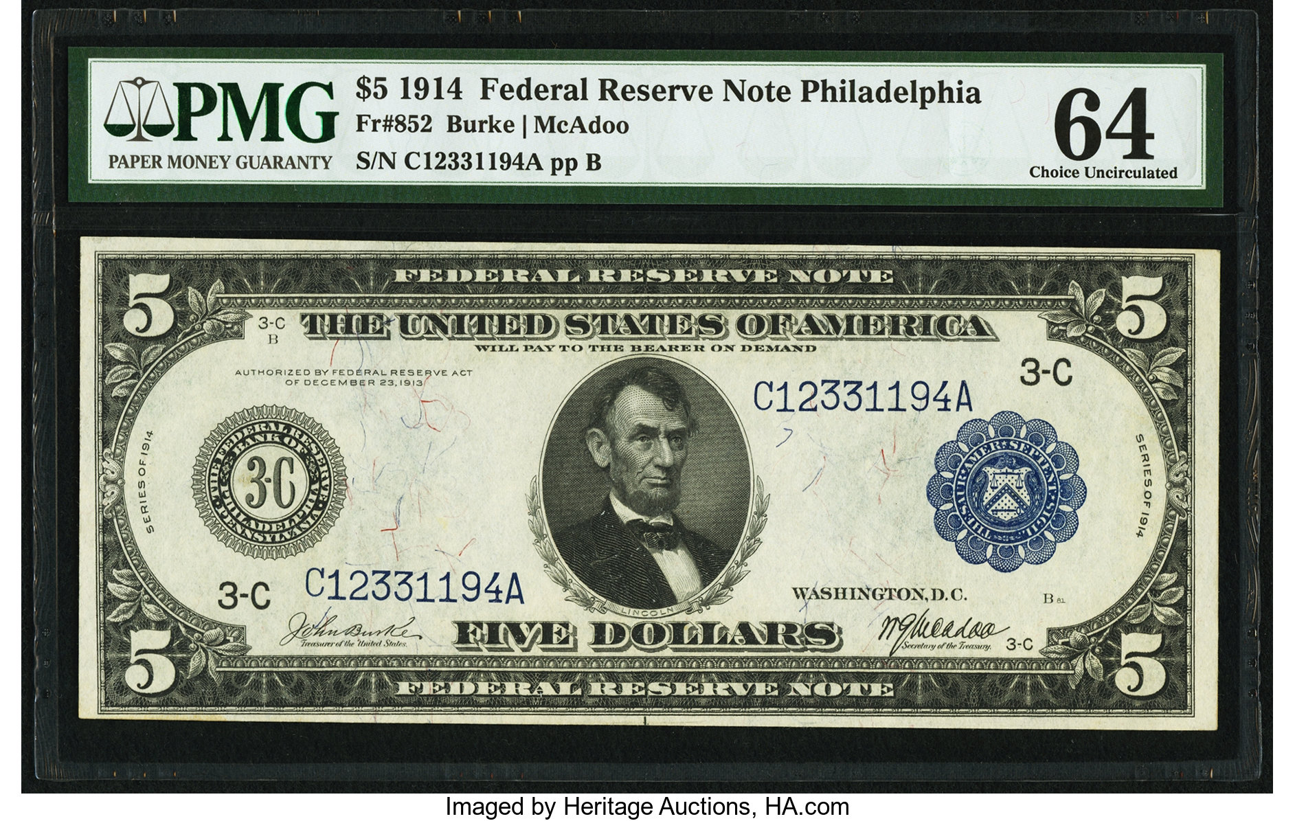 sample image for Fr.852 $5 Philly