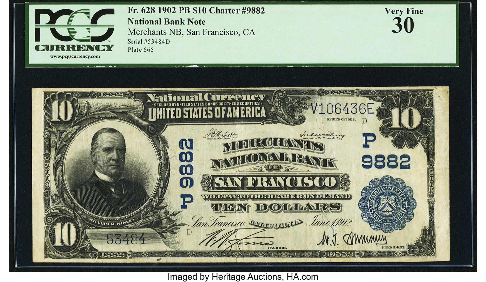 sample image for 1902 3rd Charter Period $10  Plain Back 3rd Issue (Fr.# 628)