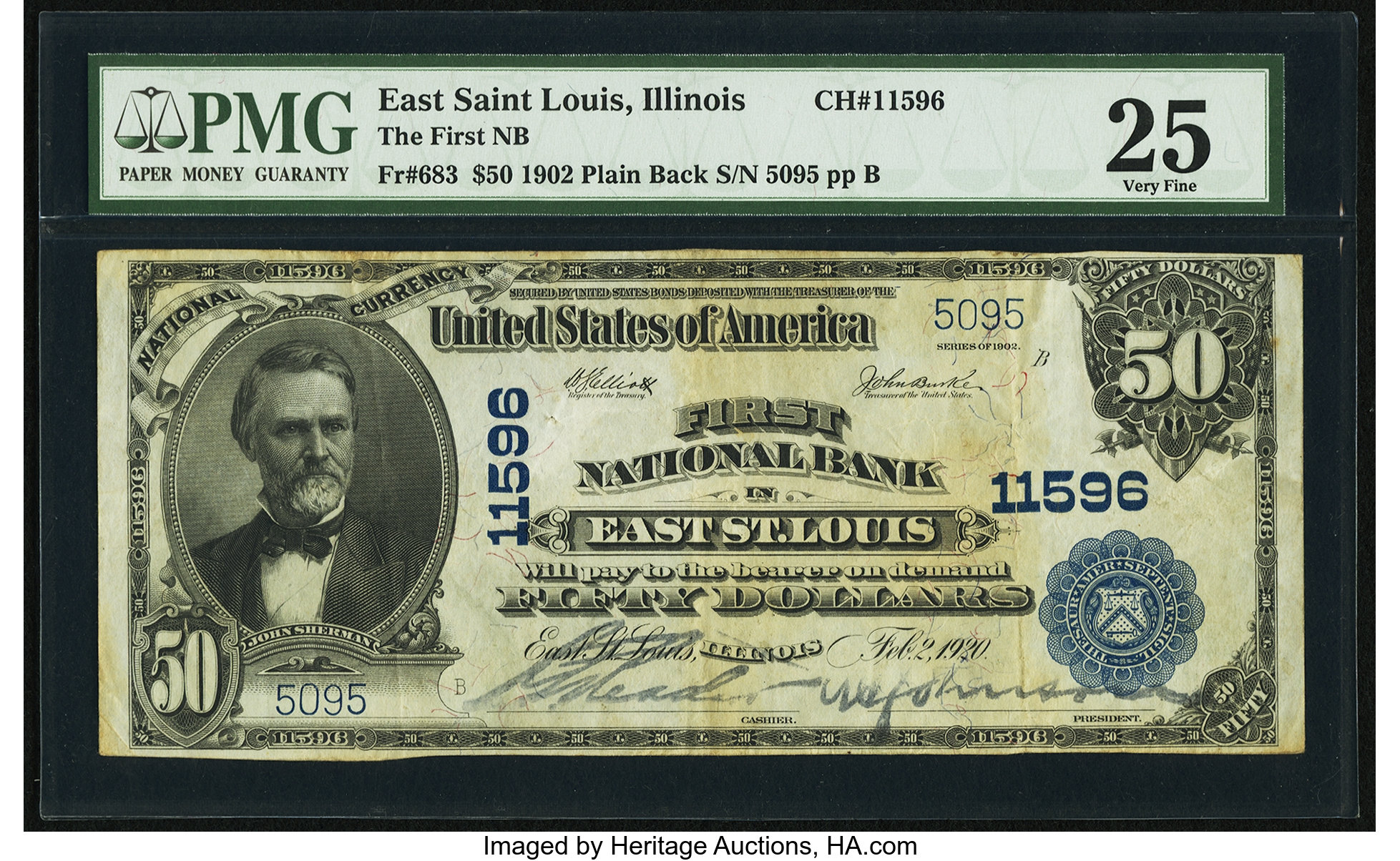 sample image for 1902 3rd Charter Period $50  Plain Back 3rd Issue (Fr.# 683)