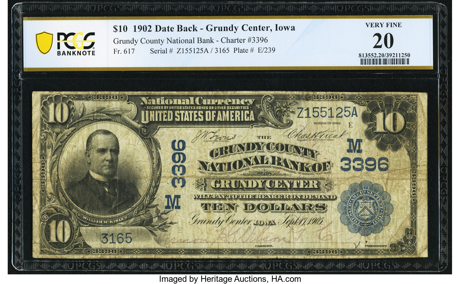 sample image for 1902 3rd Charter Period $10  Date Back 2nd Issue (Fr.# 617)