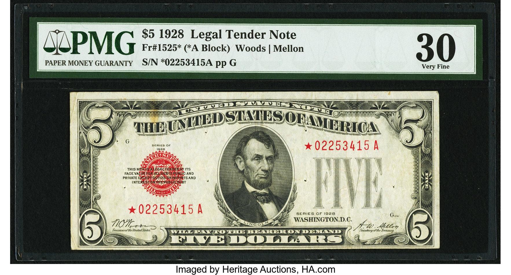 sample image for 1928 $5  (Fr.# 1525*)