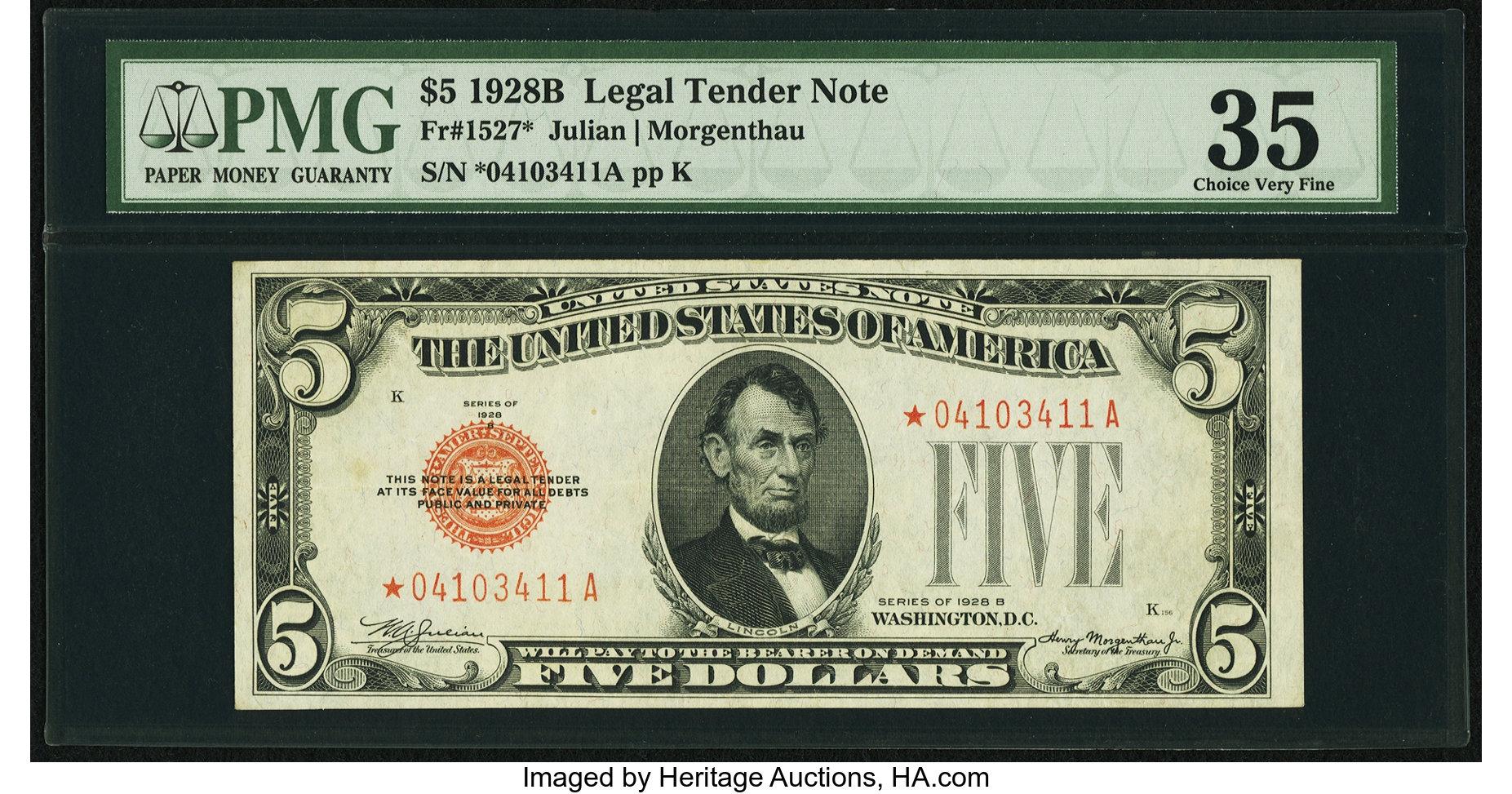 sample image for 1928B $5  (Fr.# 1527*)